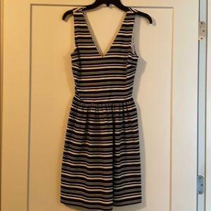 Love Ady navy and cream striped dress